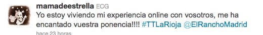 Tweet trip La Rioja el rancho madrid 5