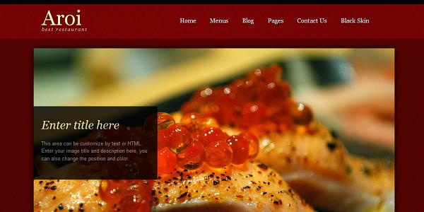 Restaurant WordPress Theme – Aroi