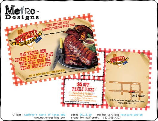 Graphic Design - Godfrey's BBQ