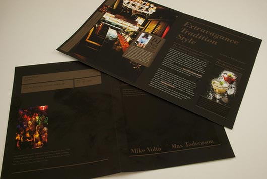Upscale Restaurant and Bar Brochure