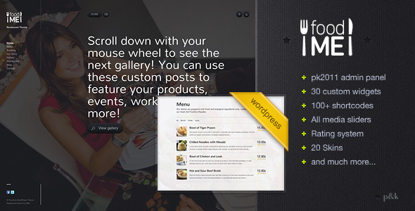 WordPress FoodMe Restaurant Business Theme