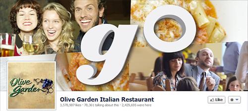 Olive Garden restaurante en redes sociales