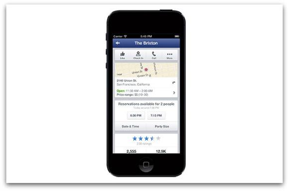Acuerdo entre Facebook y Opentable