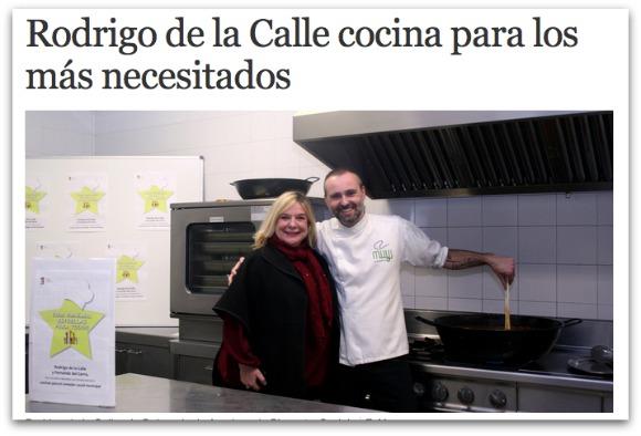 Rodrigo de la Calle cocina para los más necesitados