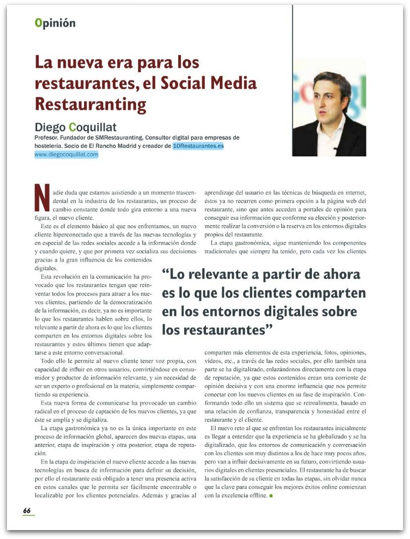 La nueva era para los restaurantes, el Social Media Restauranting