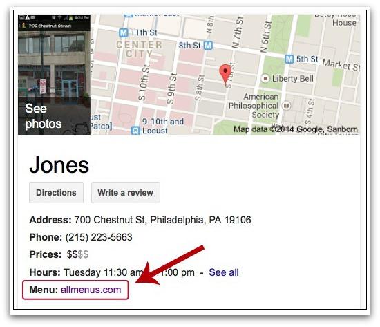 Google podría mostrar en los resultados de búsqueda las cartas y menús de restaurantes