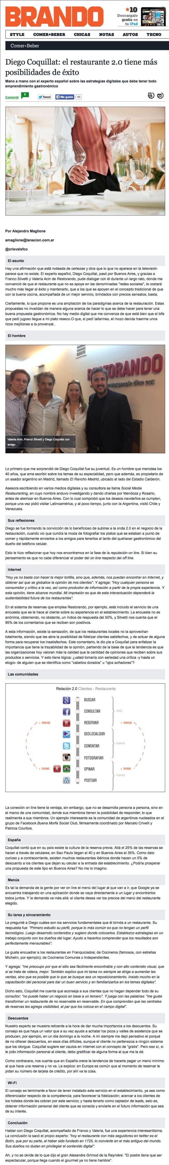Entrevista Diego Coquillat