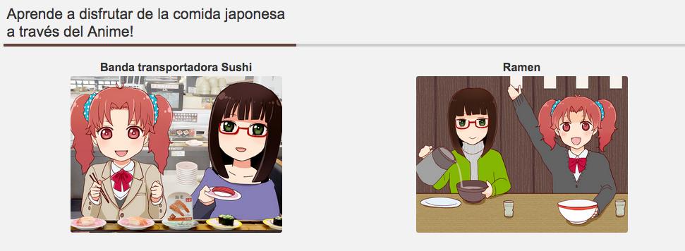 Aprende a disfrutar de la comida japonesa  a través del Anime!