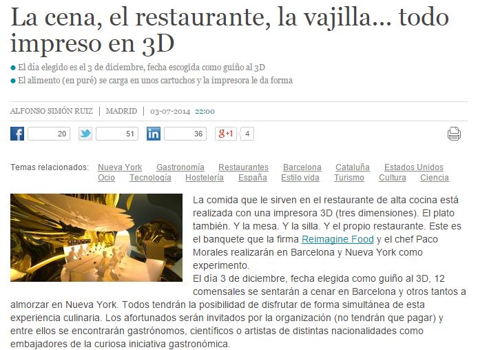 Restaurantes en 3D