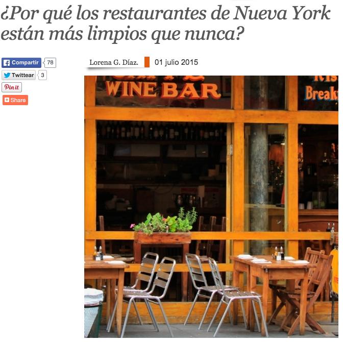 ¿Por qué los restaurantes de Nueva York están más limpios que nunca