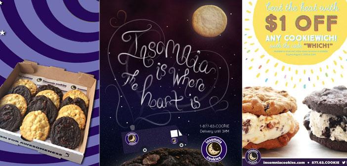 Anuncios y promociones de insomnia cookies