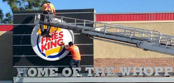 Cambio de nombre de Burguer King a Fries King