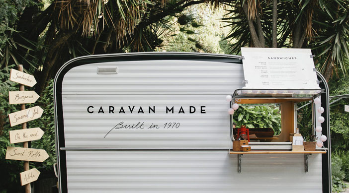 Food truck gourmet Caravan made