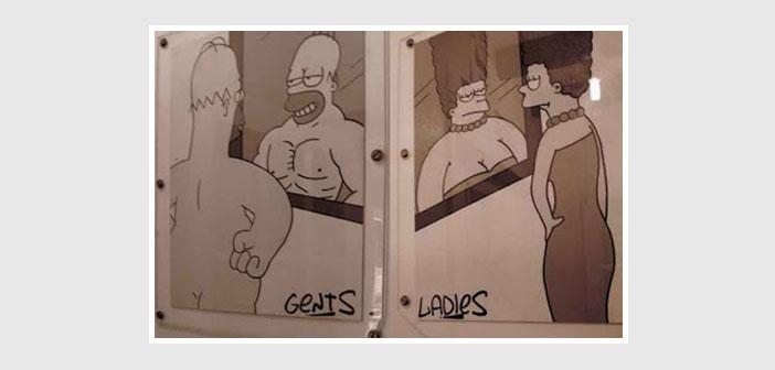 Colección cartel de baños restaurante-22