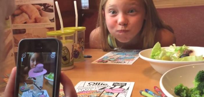 Dibujos en 3D para los niños en los restaurantes