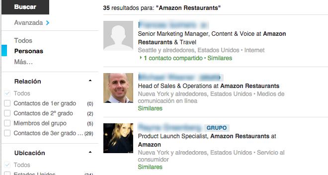 Nuevas incorporaciones en Amazon restaurantes