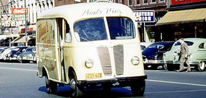 Carro de pastel de Paul, Metro Van, Ontiaro, Canada, alrededor de 1952