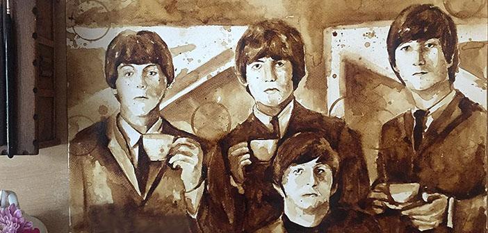 Cuadros pintados con café- lo último en arte
