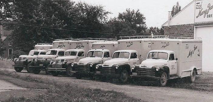 Flota de camiones de Mary Jane, década de 1950