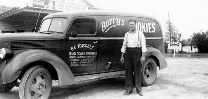 Furgoneta Ford Panel, galletas Burry, aproximadamente década de 40