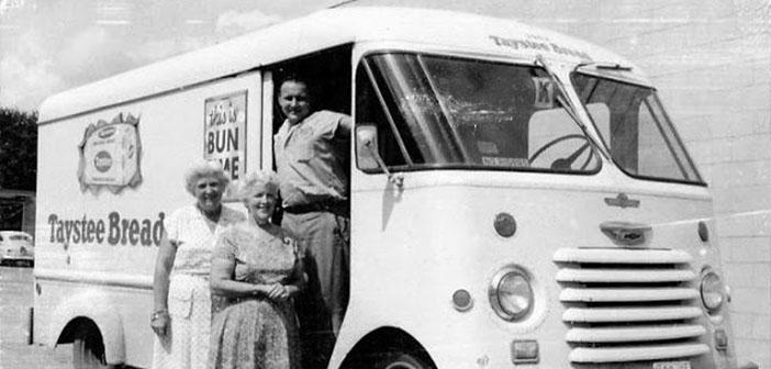 Furgoneta de pan Taystee, furgoneta Chevrolet Step, aproximadamente 1959