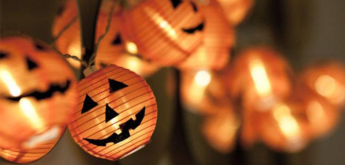 Iluminación para Halloween-calabazas