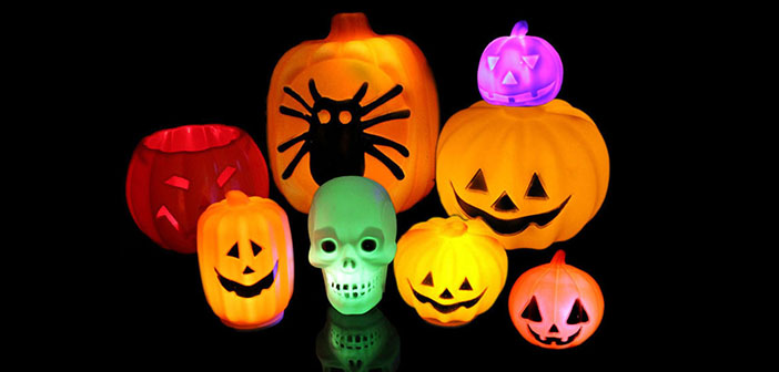 Iluminación para Halloween-lamparas