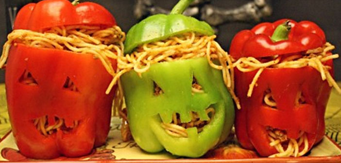 Decoración de platos para Halloween