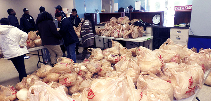 Banco de alimentos en Acción de Gracias