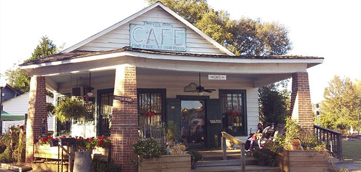 El edificio del The Whistle Stops Cafe