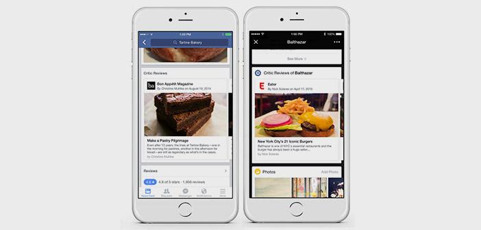 Facebook-críticas gastronómicas de los restaurantes
