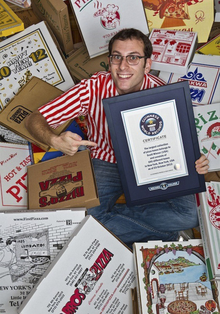 Scott Weiner-Record Guines de envases de pizza