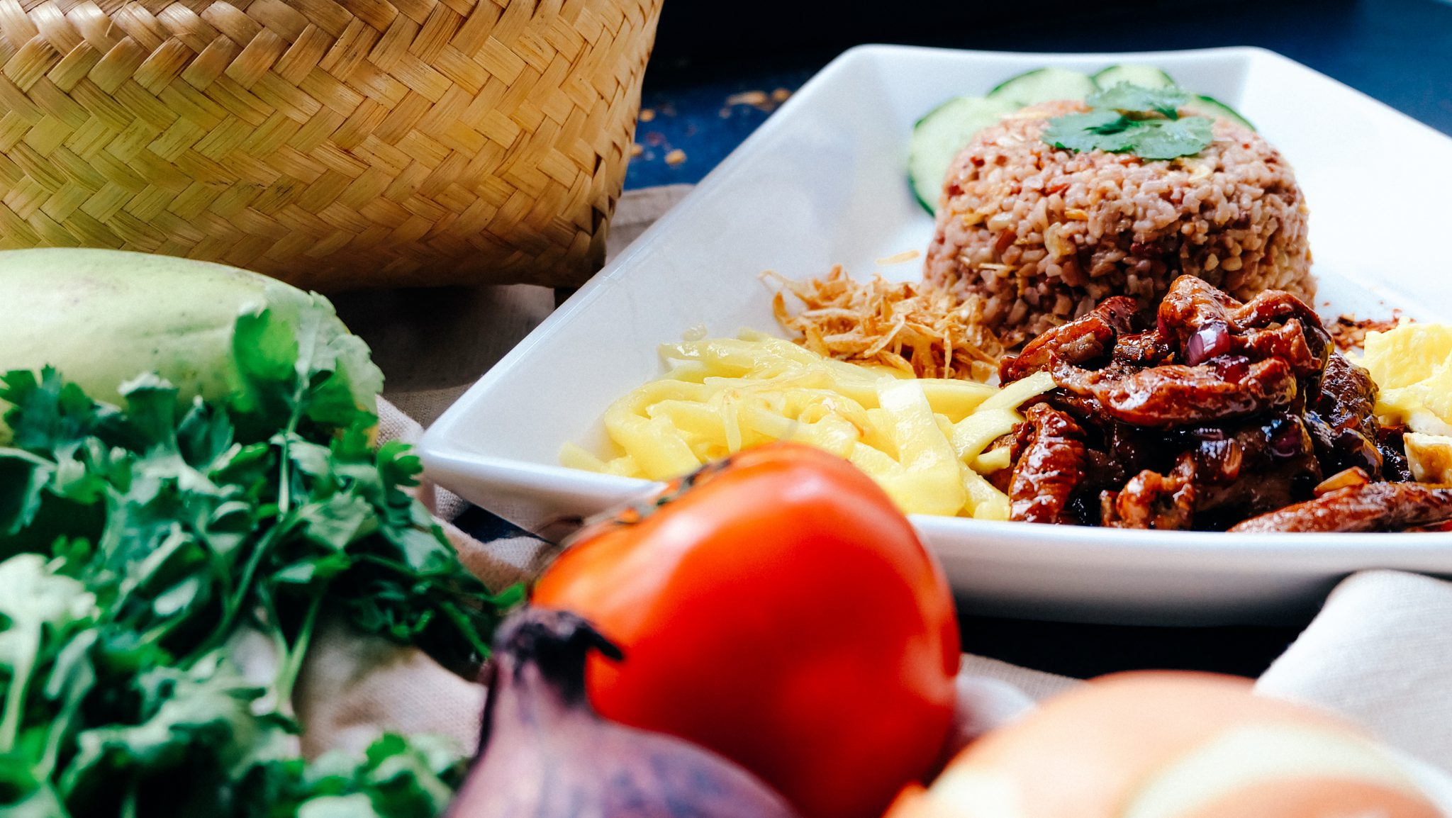 Plato restaurante vegetariano