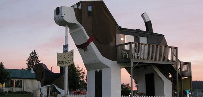 El hotel con forma canina-Dog Bark Park Inn