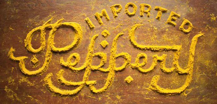 Palabra hecha con comida-curry