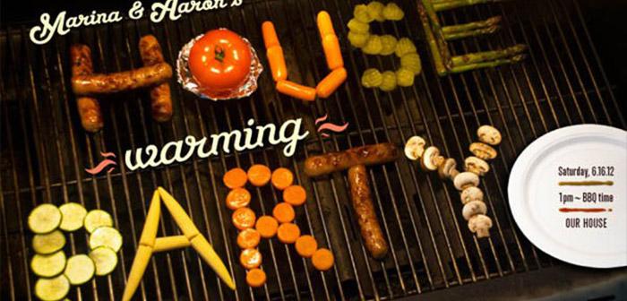 Palabra hecha con comida-restaurante asador