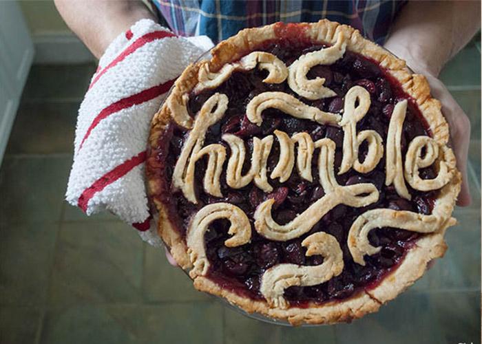 Palabra hecha con comida-tarta