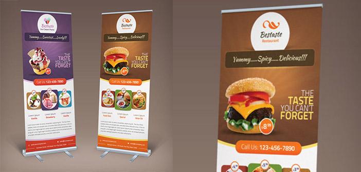Diseño de Roll ups para restaurantes