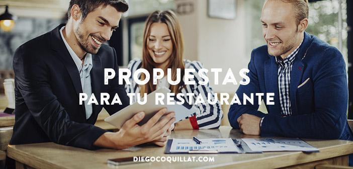 Propuestas para restaurantes