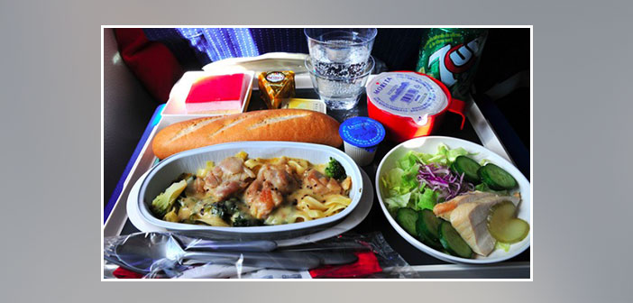 Air-France---Dinner-in-economy-class