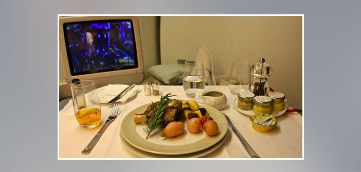 Air-France---Dinner-in-first-class