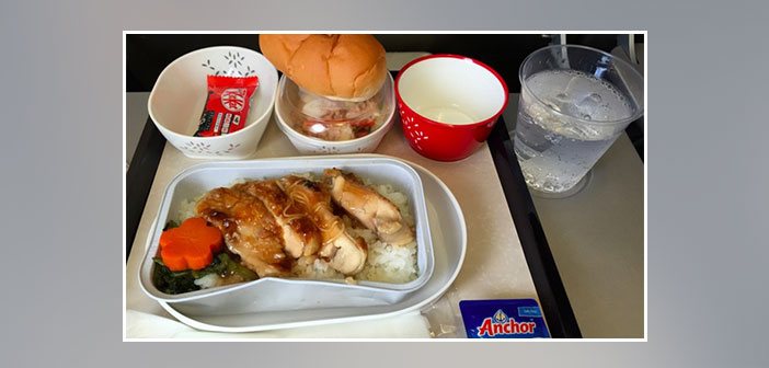 Cathay-Pacific-Airlines---Dinner-in-economy-class