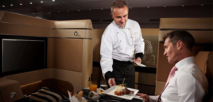 El chef emplea sus mejores armas para resultar convincente ante sus clientes.