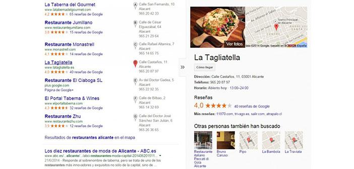 Versión anterior de Google Search
