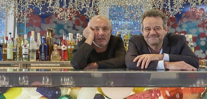El diseñador Damien Hirst y el Chef Mark Hix