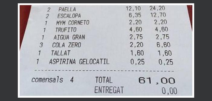 Cobrar a un cliente con dolor de cabeza 25 céntimos por una Aspirina o incluir un plus de 30 céntimos por servir la carne muy hecha son episodios que han ocurrido en nuestros restaurantes.