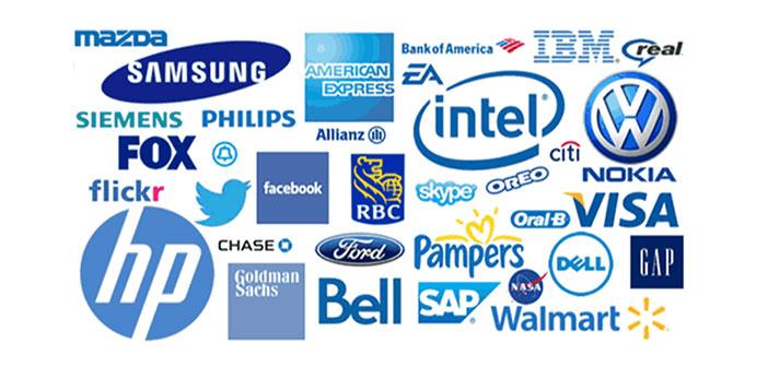 El azul se usa generalmente en las marcas corporativas conservadoras y, en realidad, es uno de los colores más populares y usados por las marcas en América.