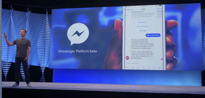 Facebook ha anunciado que a través de su aplicación de mensajería Messenger se podrán crear chatbots para que interactúen con los usuarios.