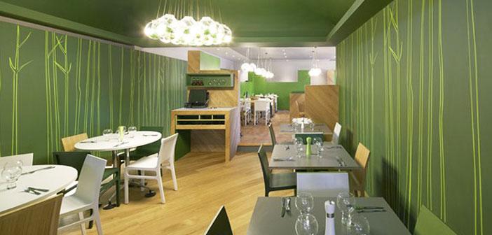 Colores verdes para paredes pared cocina verde with for Decoraciones para cevicherias