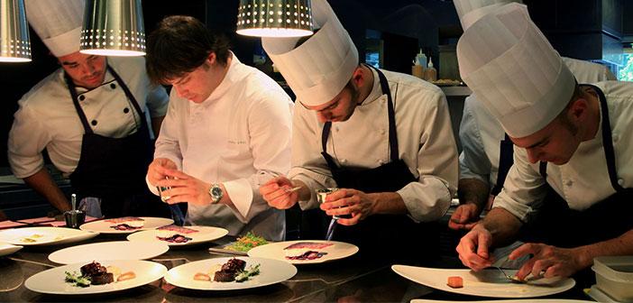 La cocina del restaurante ABaC en Barcelona